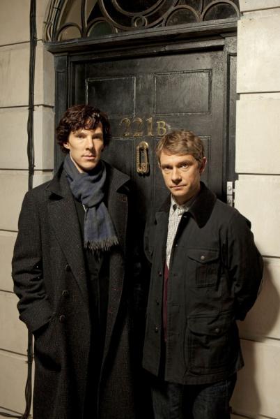Sherlock e dr. Watson na série da BBC