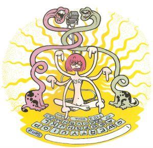 Ilustração de Laerte para o livro de Rita Lee