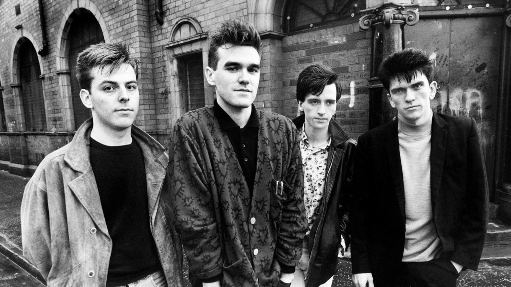Andy Rourke, Morrissey, Johnny Marr e Mike Joyce, o The Smiths