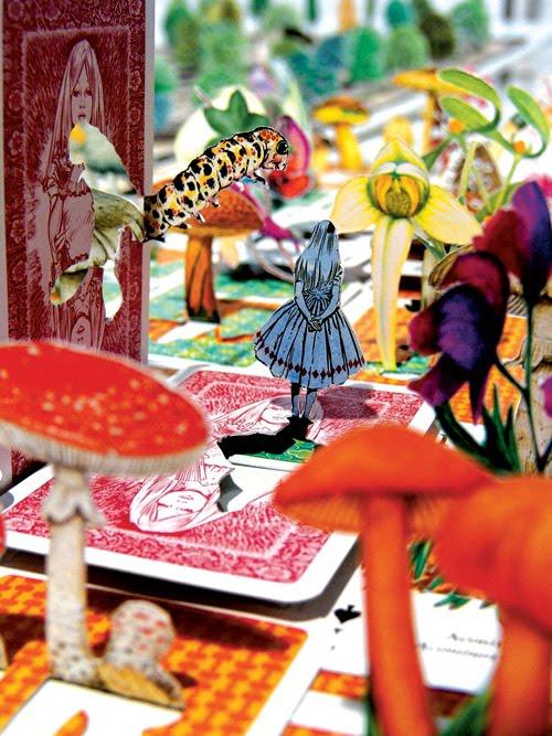 "Trabalho gráfico de Luiz Zerbini para ""Alice"""