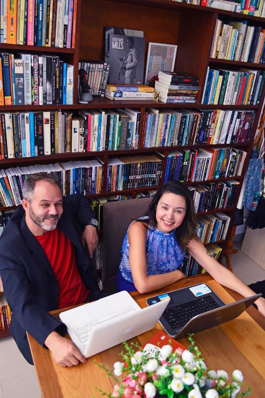 Chris Lauxx, o casal formado por Rogério Christofoletti e Ana Paula Lauxx | Foto: Paulo Henrique Wolf