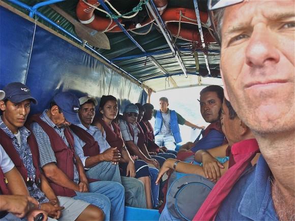 Carl Hoffman em uma travessia no Equador | Foto: Arquivo pessoal