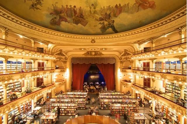 A livraria El Ateneo, em Buenos Aires
