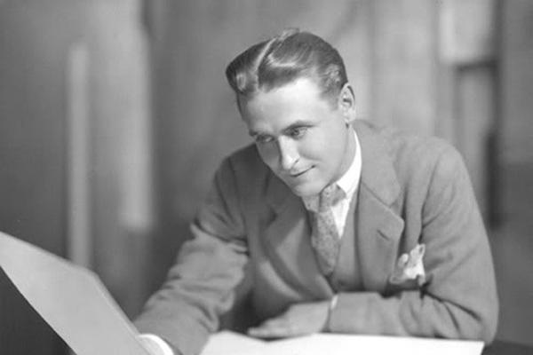 O escritor F. Scott Fitzgerald