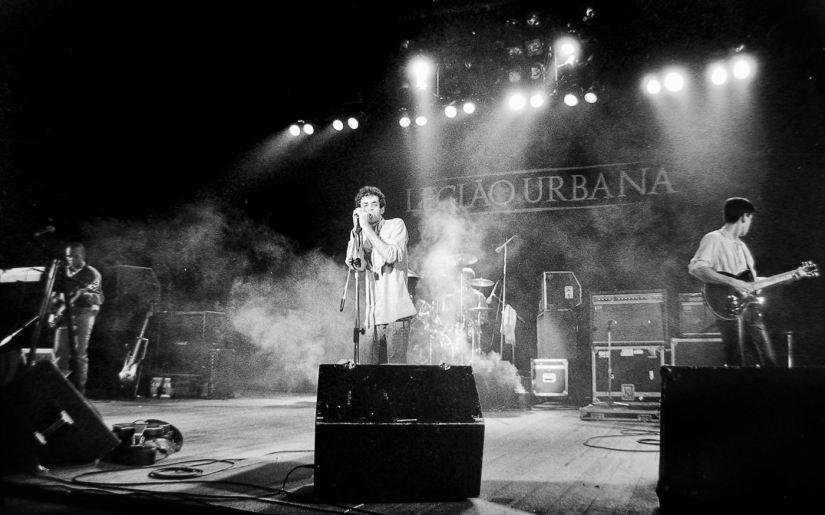 A banda Legião Urbana em apresentação