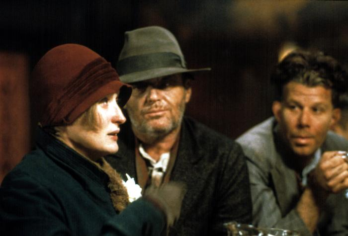 IRONWEED, Meryl Streep, Jack Nicholson, Tom Waits, 1987