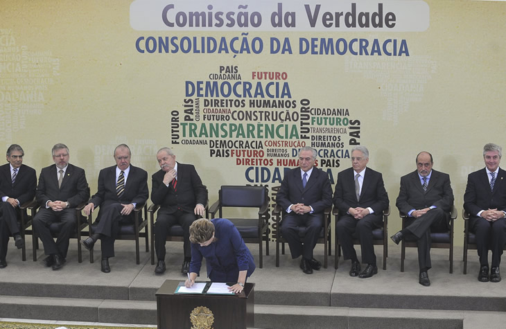 O lançamento da Comissão Nacional da Verdade, em 2012