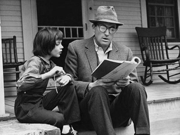 Gregory Peck como Atticus Finch na versão cinematográfica do livro de Harper Lee