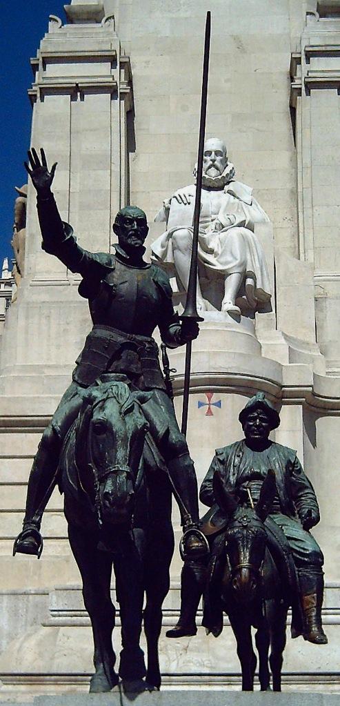 Monumento a Cervantes, na praça de Madri