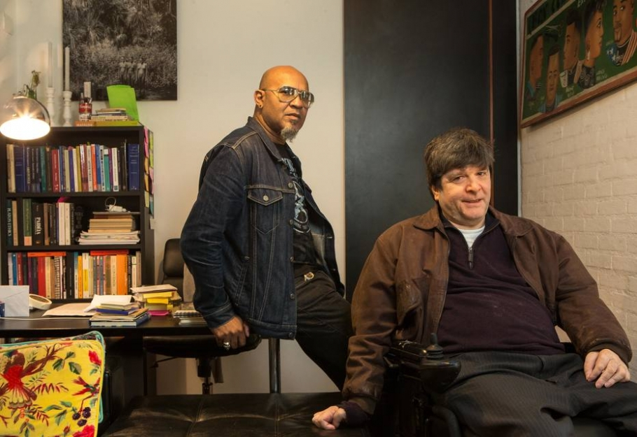 Clemente e Marcelo Rubens Paiva | Foto: Daniel Teixeira/Estadão