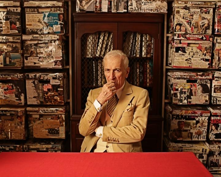 O jornalista Gay Talese em sua casa | Foto: Darryl Estrine