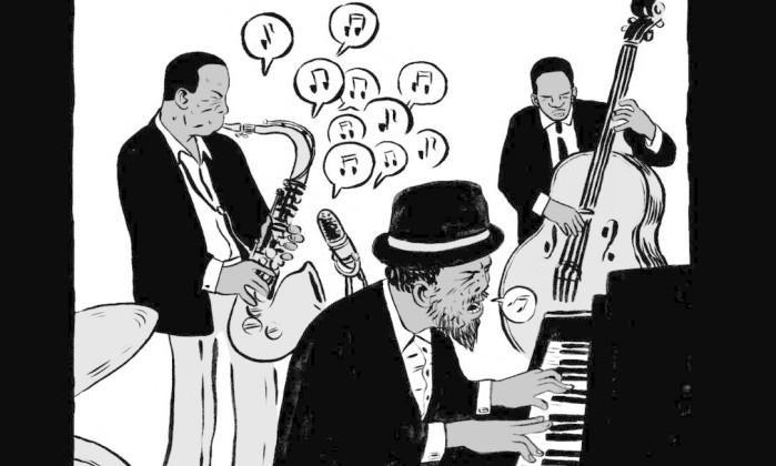 """Ilustração da HQ """"Coltrane"""""""