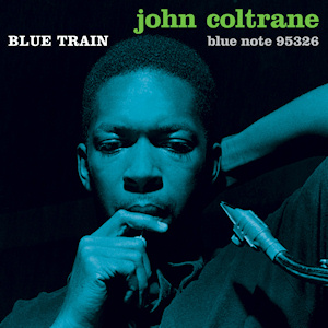"A capa do álbum ""Blue Train"", que foi recriada para a HQ"